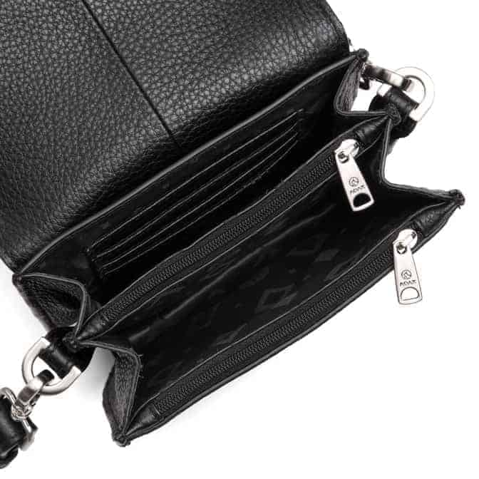 101692 ADAX Cormorano shoulder bag Siri - sort open
