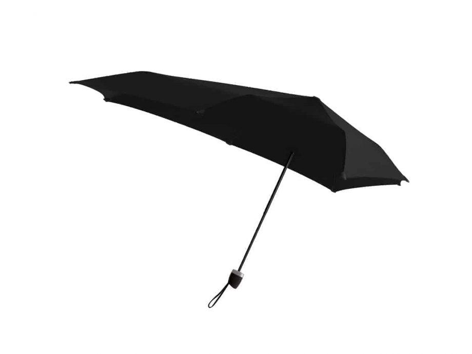 10200 senz-paraply-sammenleggbar-manual-side-view-NOS-pure-black-sort