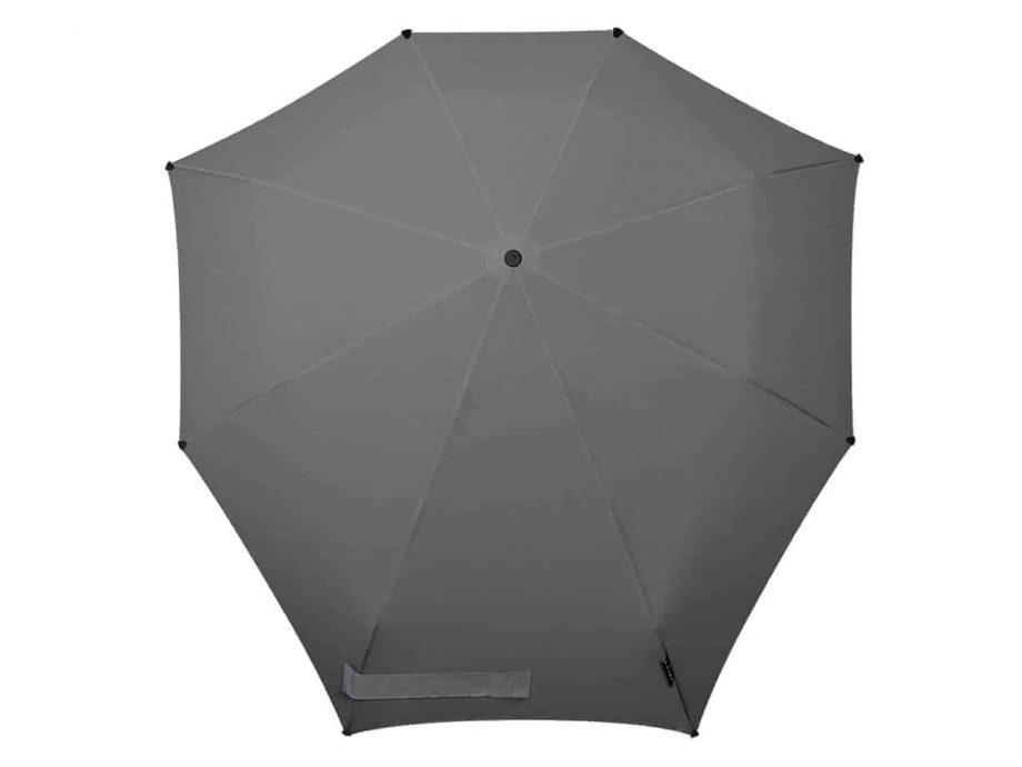 1020012 senz-paraply-sammenleggbar-manual-Top-view-F18-revive-silk-grey
