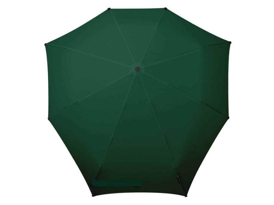 1020013 senz-paraply-sammenleggbar-manual-Top-view-F18-revive-velvet-green