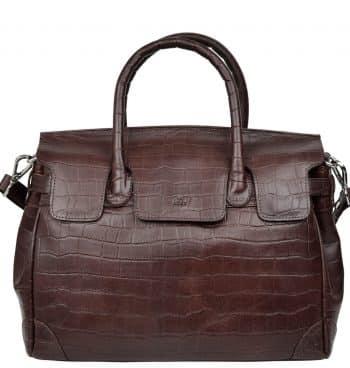 115697 ADAX Teramo handbag Gigi dark brown forside
