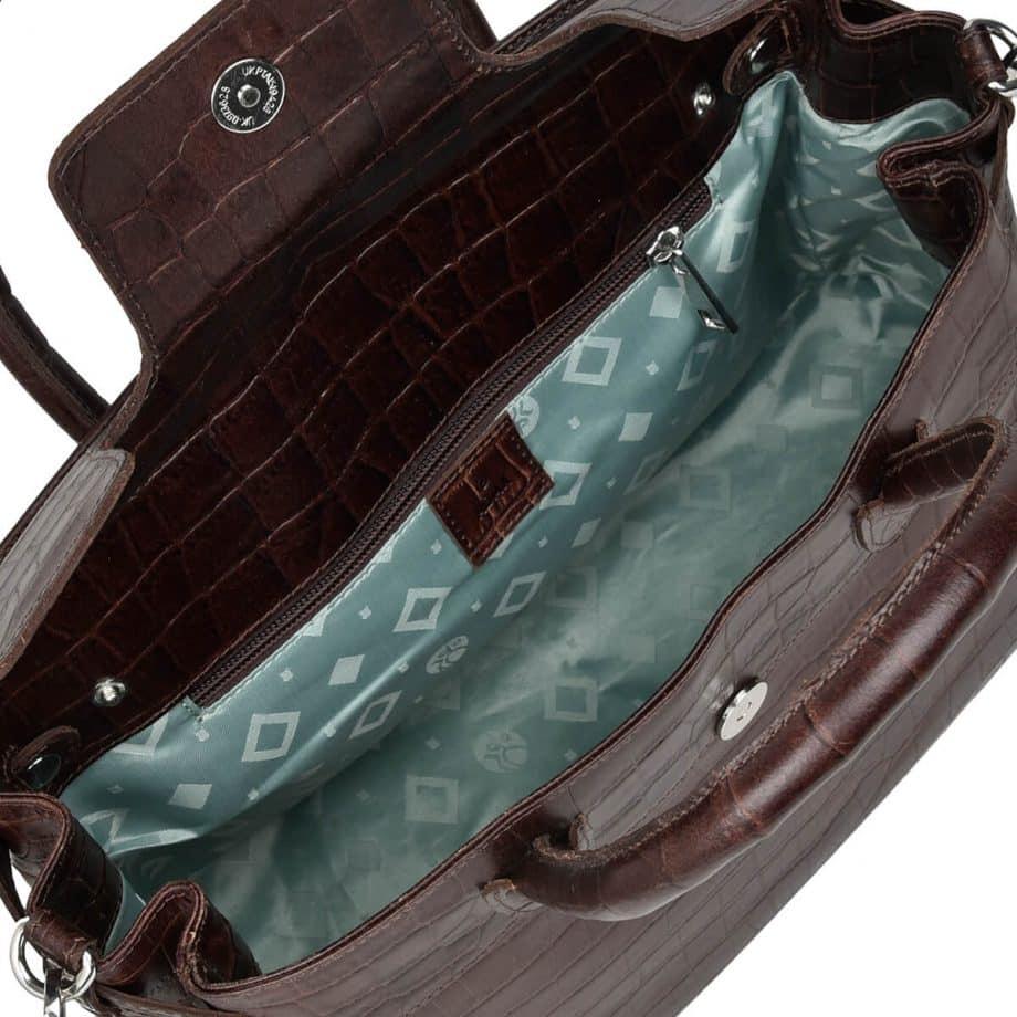 115697 ADAX Teramo handbag Gigi dark brown innside