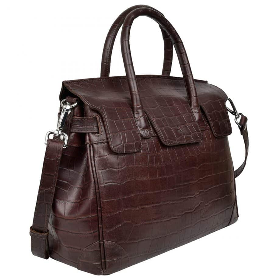 115697 ADAX Teramo handbag Gigi dark brown side