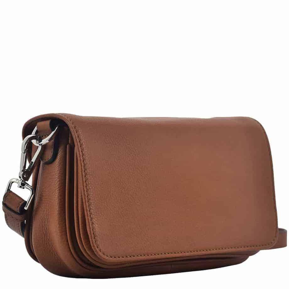 124394 Sorano shoulder bag Vera Brown Side
