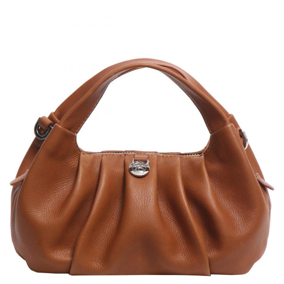 126711 ADAX Molise shoulder bag Aja brun bakside