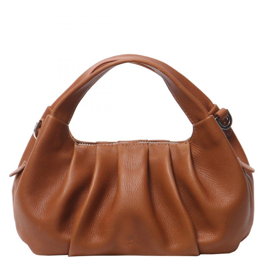 126711 ADAX Molise shoulder bag Aja brun forside