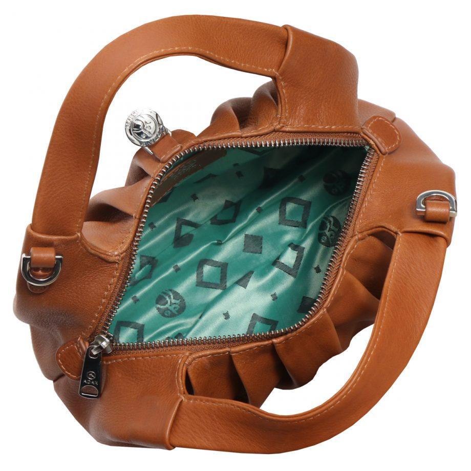 126711 ADAX Molise shoulder bag Aja brun innside