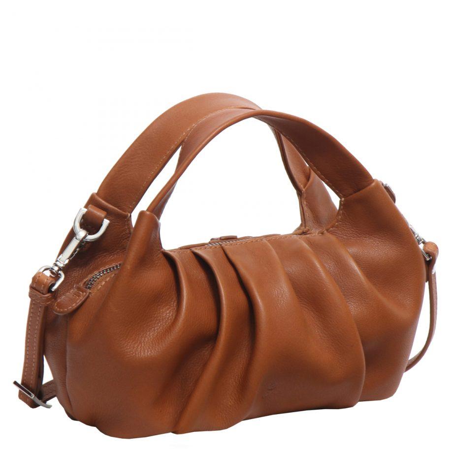 126711 ADAX Molise shoulder bag Aja brun side