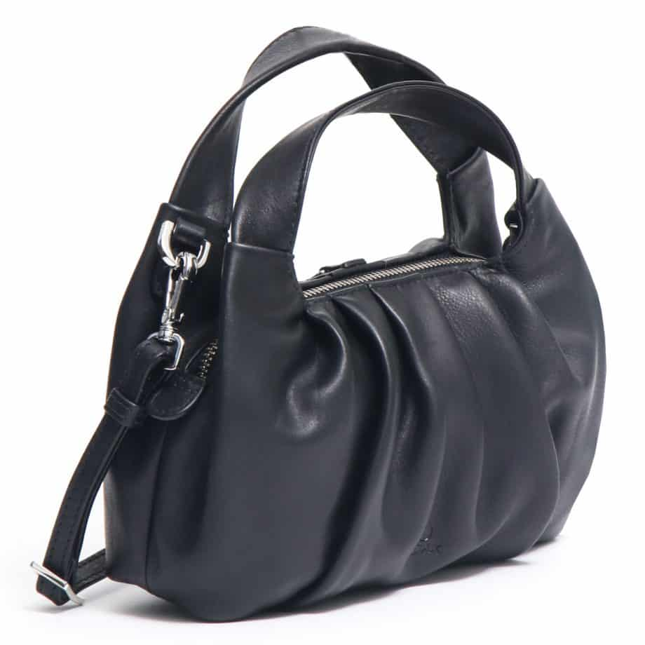 126711 ADAX Molise shoulder bag Aja sort side