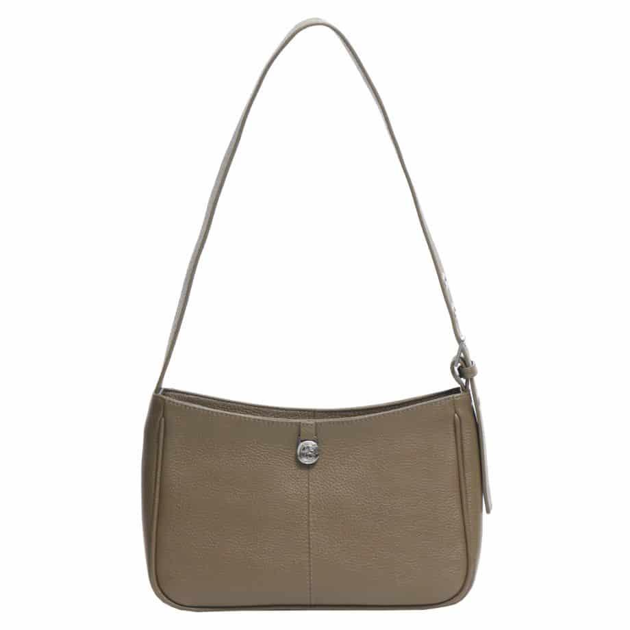 129492 ADAX Amalia Cormorano Shoulder Bag olive bakside