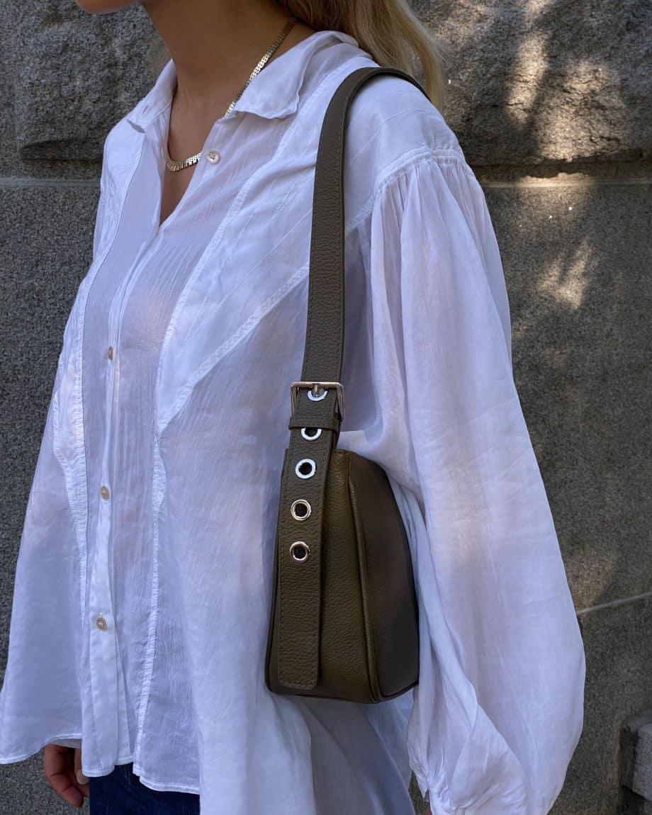 129492 ADAX Amalia Cormorano Shoulder Bag olive lifestyle 4