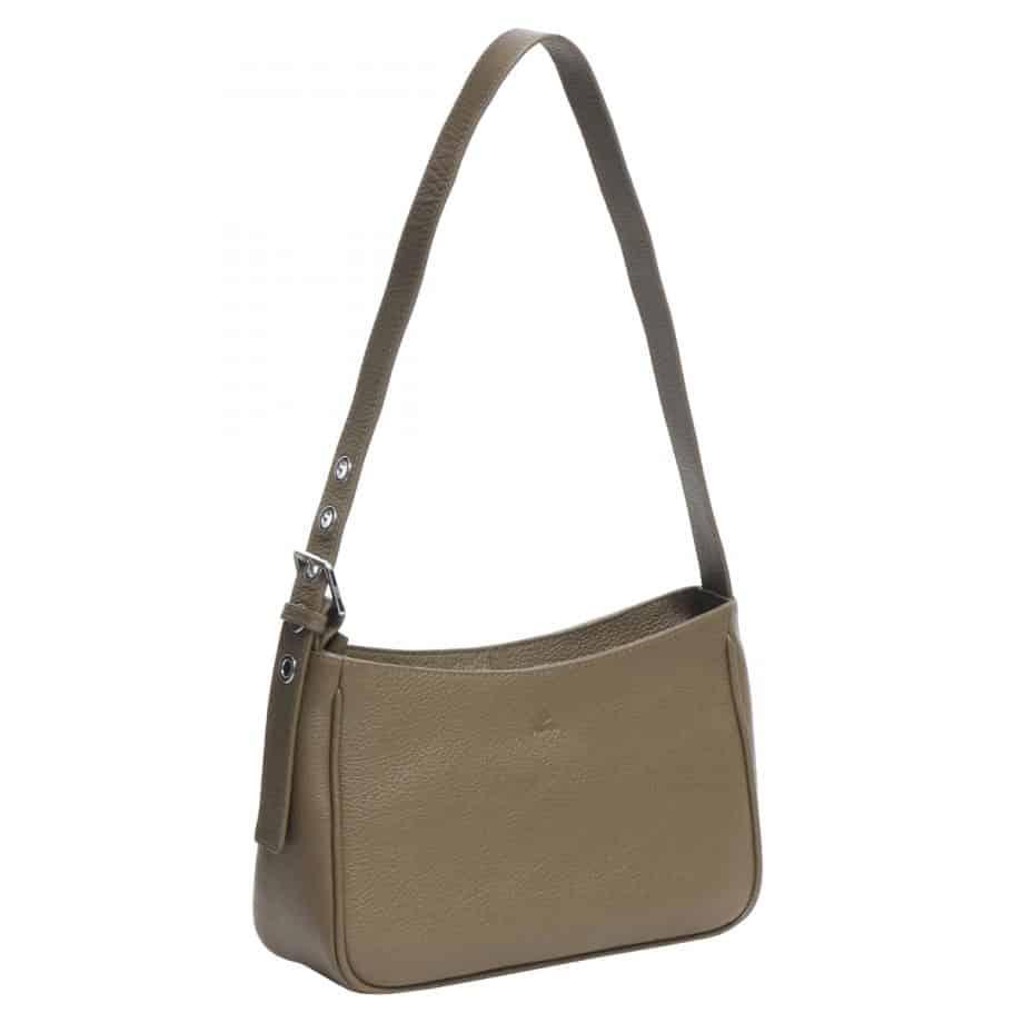129492 ADAX Amalia Cormorano Shoulder Bag olive side