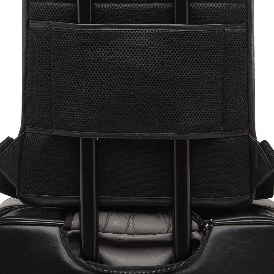 15 9566 skinnsekk sort - detalj festes på koffert - Castelijn Beerens