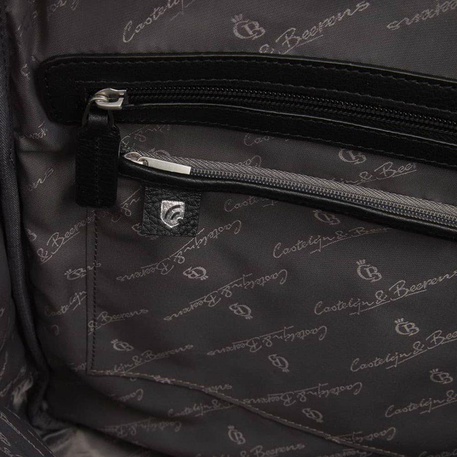 15 9566 skinnsekk sort - detalj innvendig RFID - Castelijn Beerens