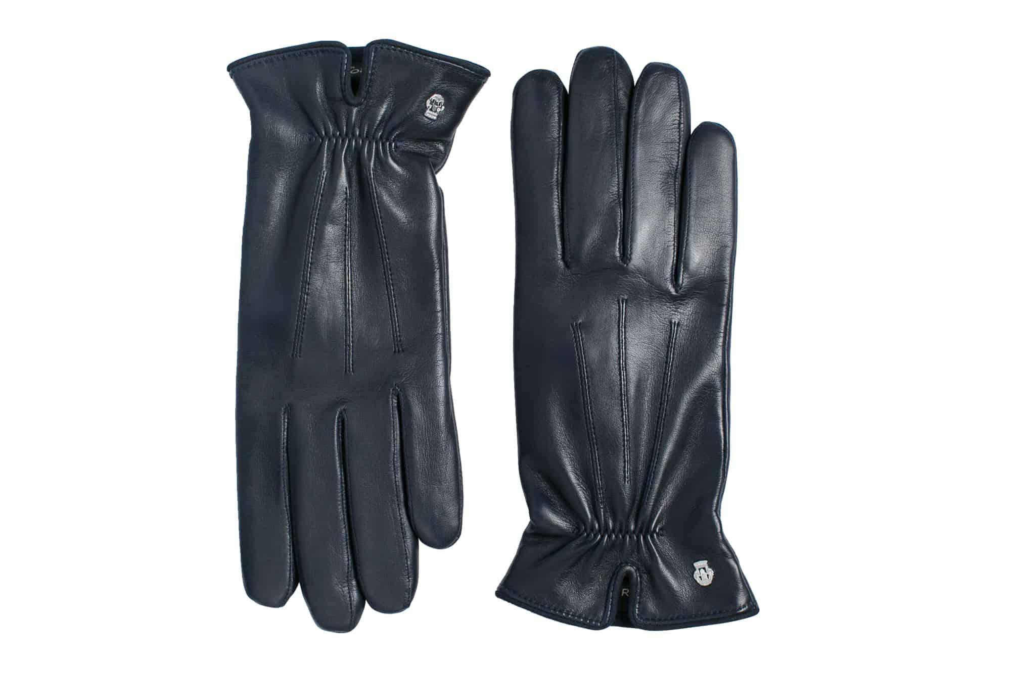 Eksklusive Roeckl-hansker til dame i lammeskinn 13011, marine blå, oversiden av hanskene