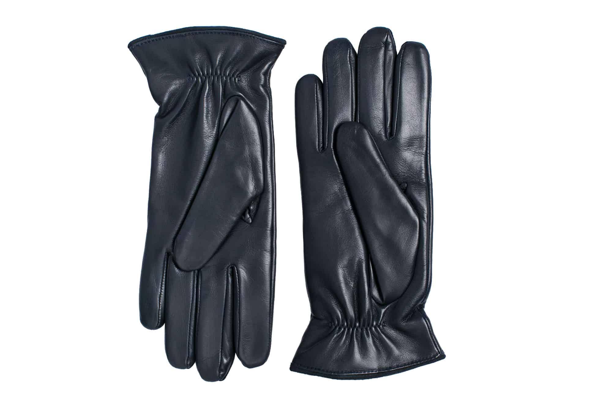 Eksklusive Roeckl-hansker til dame i lammeskinn 13011, marine blå, undersiden av hanskene
