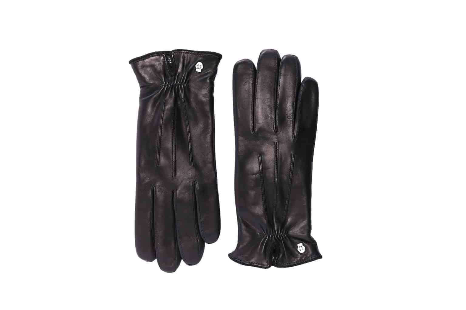 Eksklusive Roeckl-hansker til dame i lammeskinn 13011, sort, oversiden av hanskene
