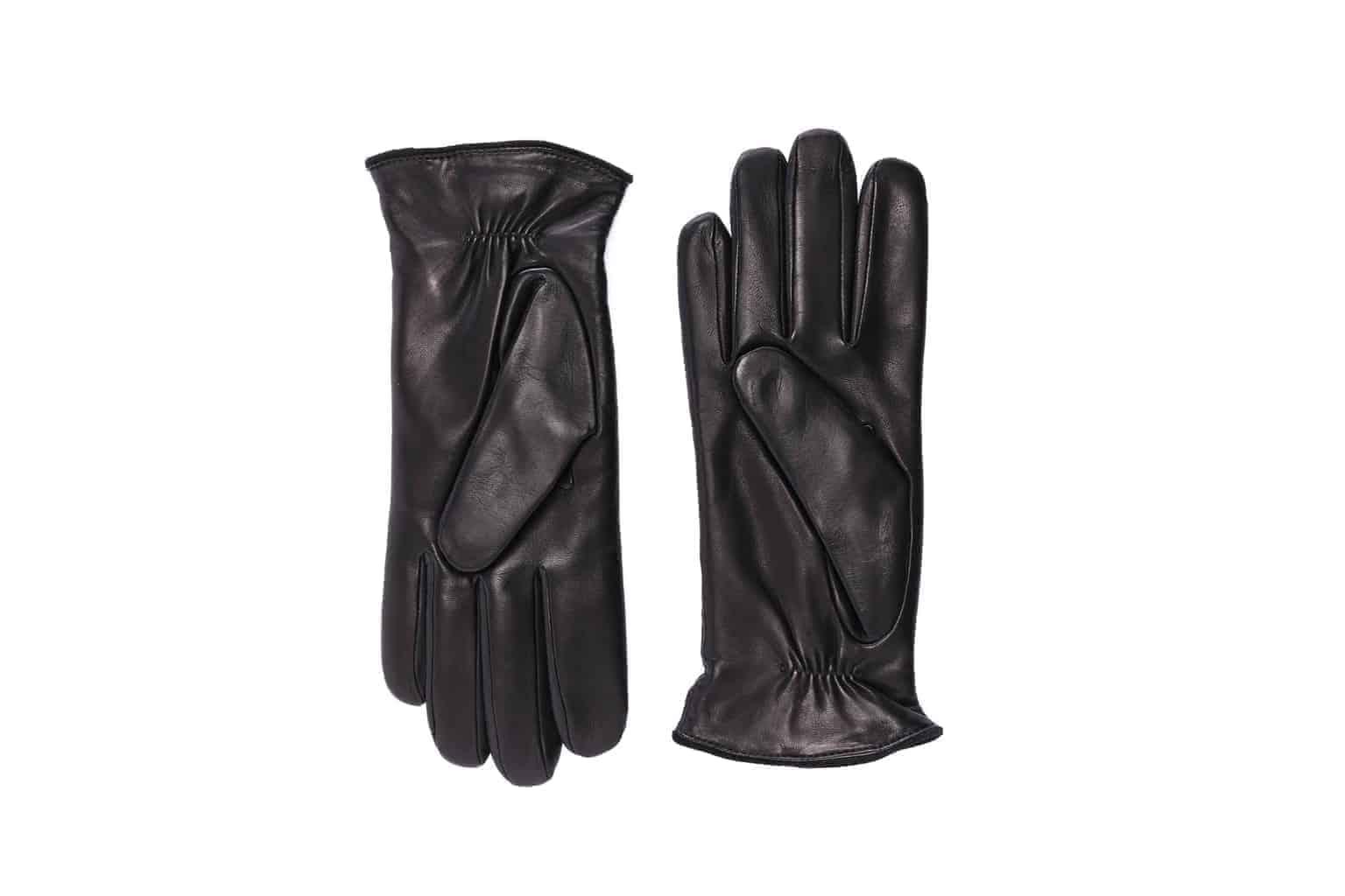 Eksklusive Roeckl-hansker til dame i lammeskinn 13011, sort, undersiden av hanskene