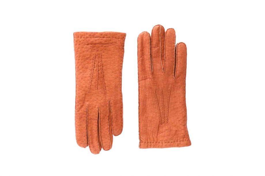 2-8041 - Villsvinshansker til dame med alpakkafôr - kork - oversiden av hanskene
