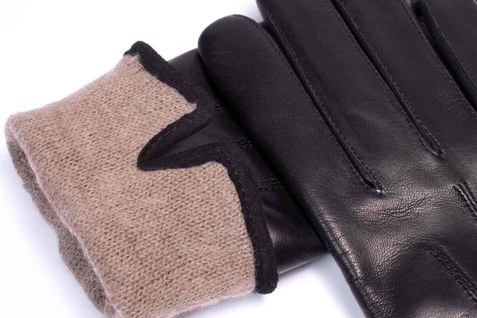 Eksklusive Roeckl-hansker til dame i lammeskinn 13011, sort, detaljbilde av fôrkant