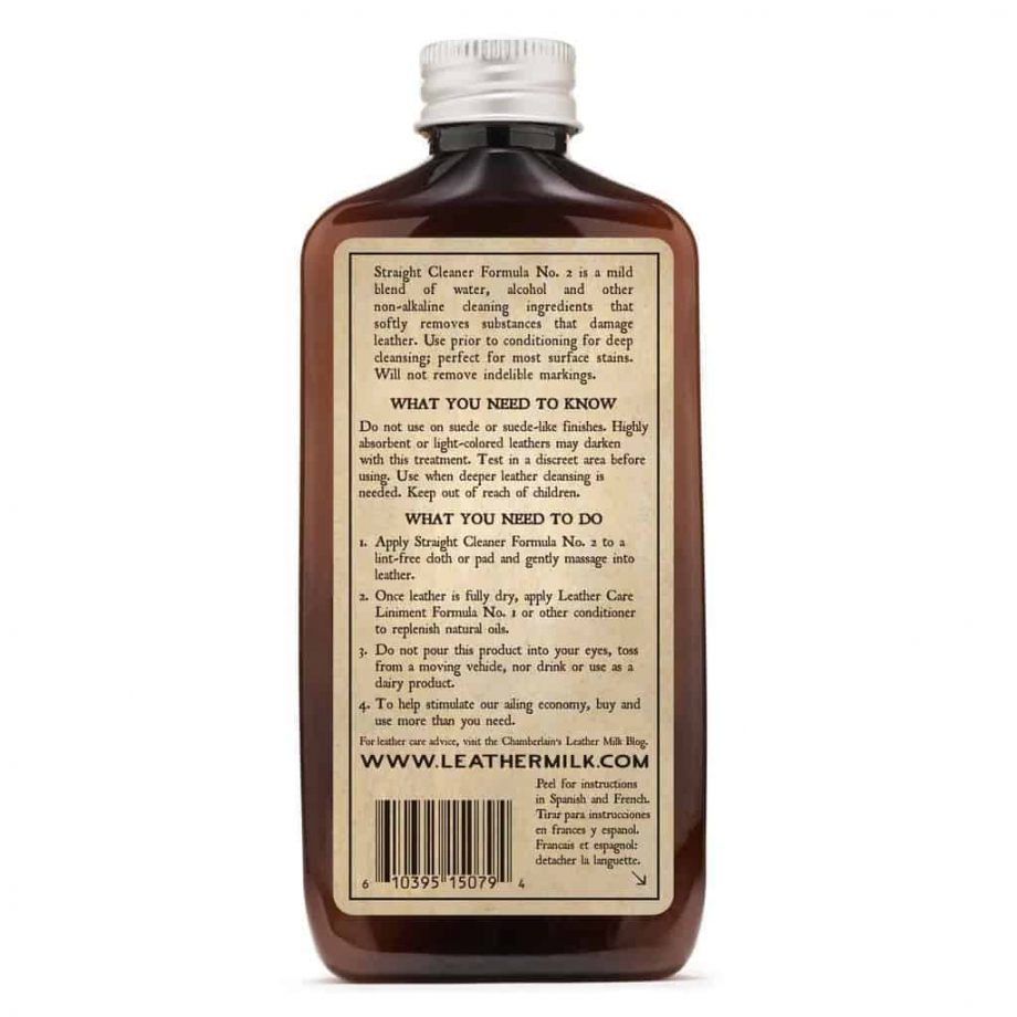 Chamberlain´s LeatherMilk Straight Cleaner No2 - sett bakfra