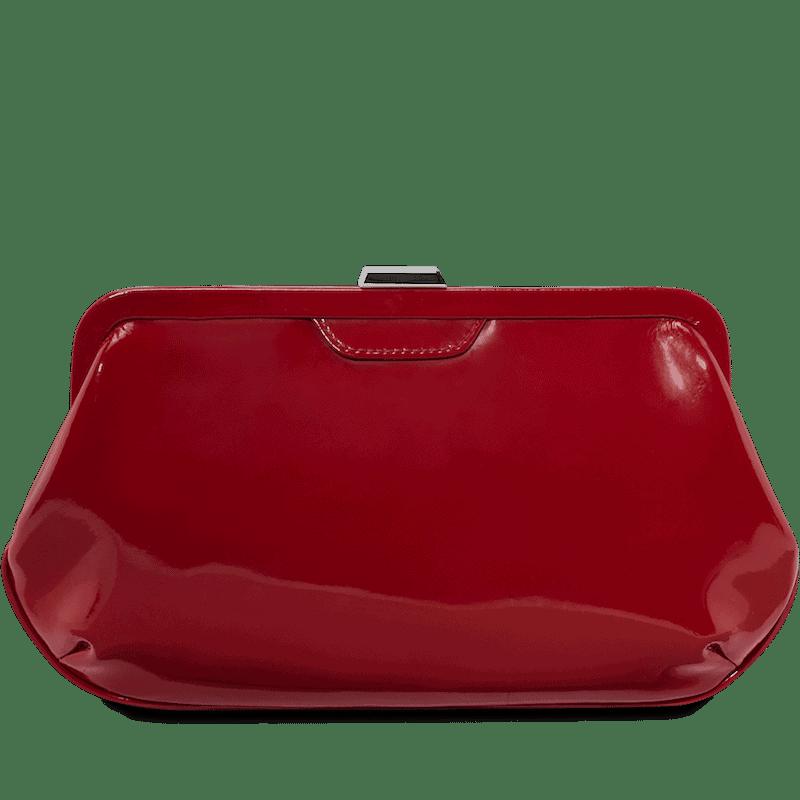 4784 Picard AUGURI nostalgisk clutch skinnveske - rød lakk