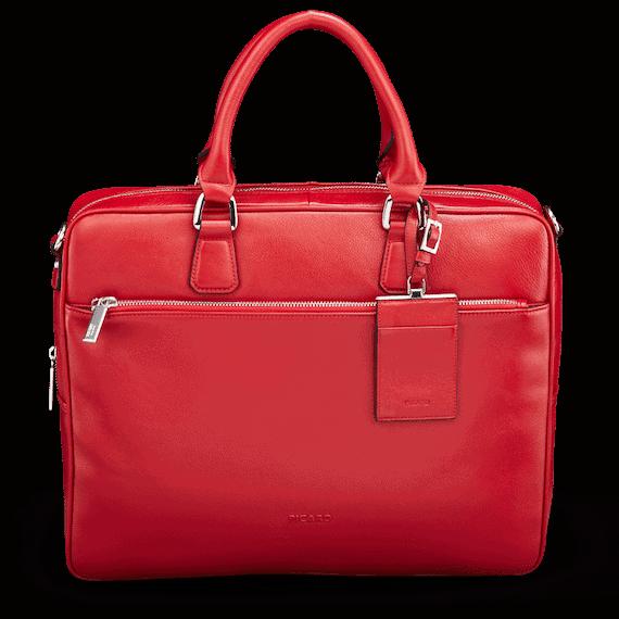PC-veske fra PICARD, 8070 MAGGIE, rød, sett forfra