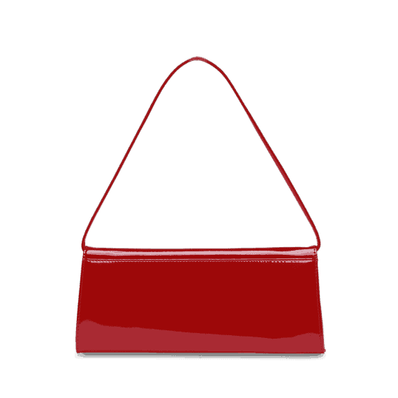 4022 Picard AUGURI klassisk clutch rød lakk 2