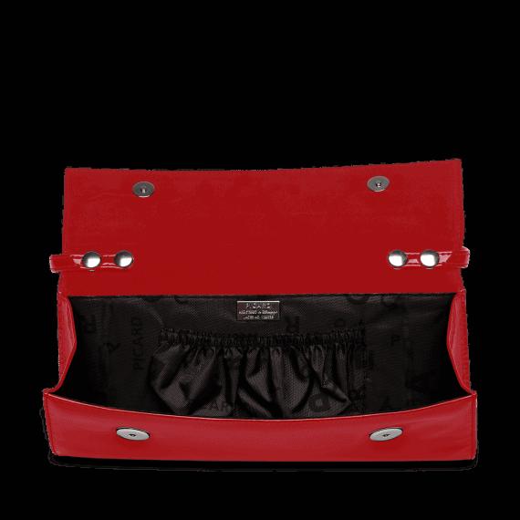 4022 Picard AUGURI klassisk clutch rød lakk 5