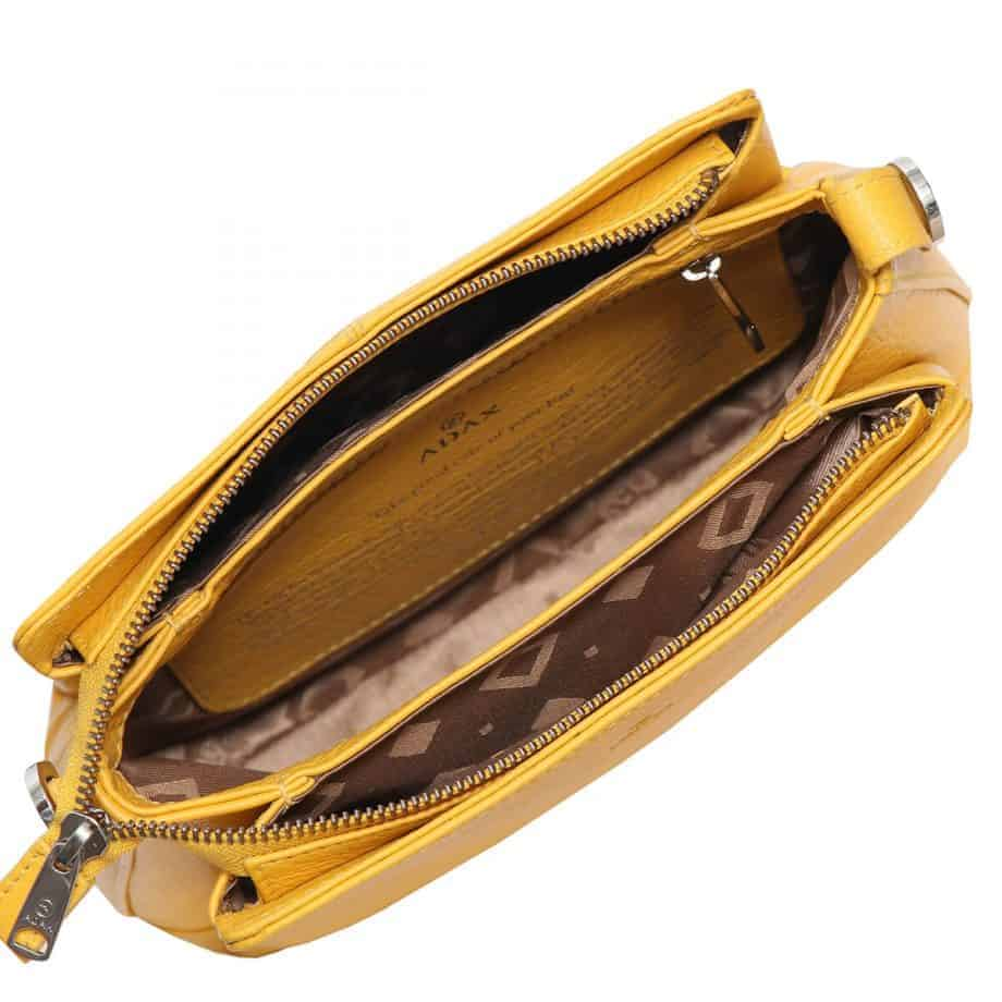229892 ADAX Cormorano shoulder bag Sia - melon - innside
