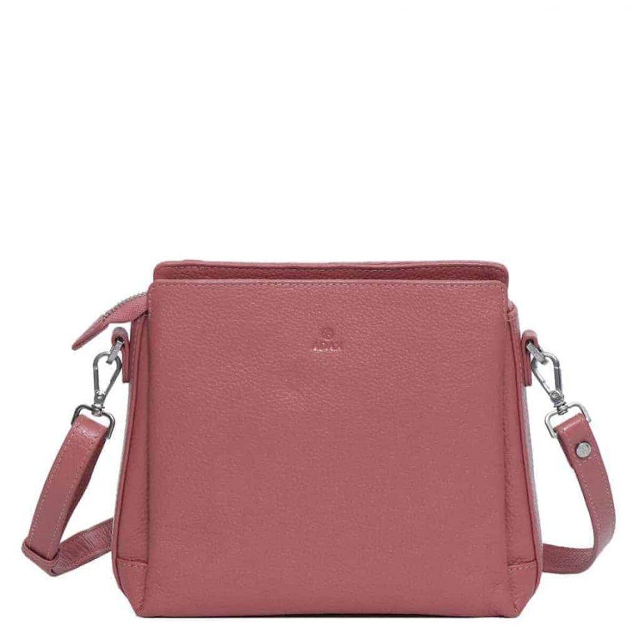 229892 ADAX Cormorano shoulder bag Sia - skulderveske - rose - forfra
