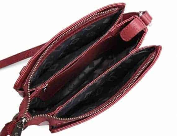 229892 ADAX Cormorano shoulder bag Sia - skulderveske - scarlet red - innside