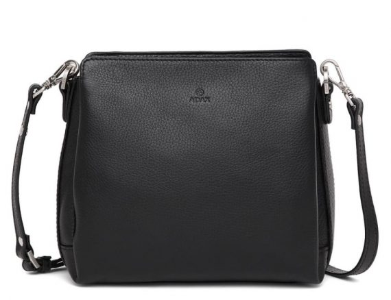 229892 ADAX Cormorano shoulder bag Sia - skulderveske - sort black - forside