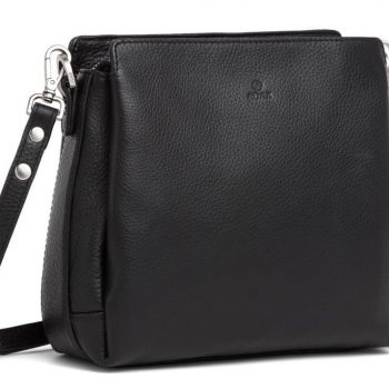 229892 ADAX Cormorano shoulder bag Sia - skulderveske - sort black - fra siden