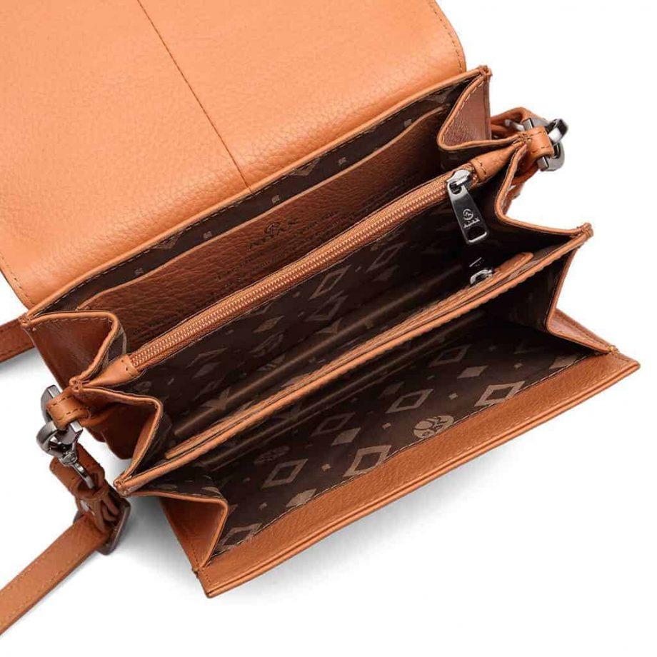 230192 Adax Cormorano shoulder bag Thea peach open