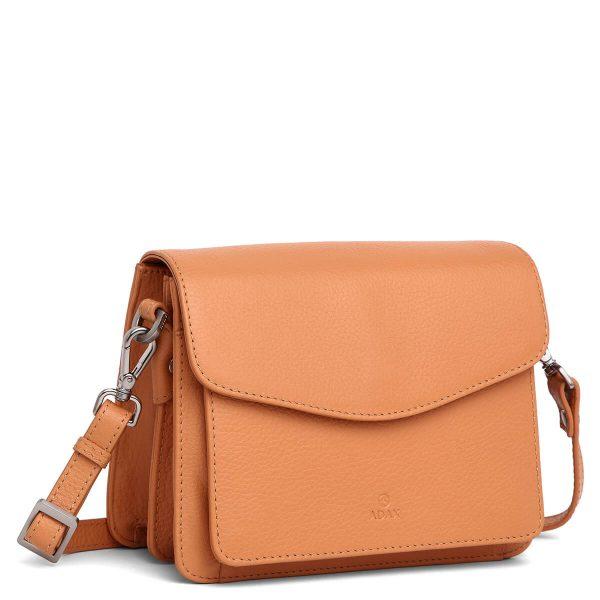230192 Adax Cormorano shoulder bag Thea peach side