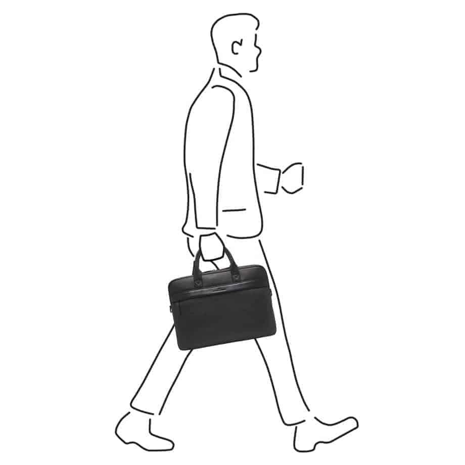 26 9472 Castelijn Beerens Chris Laptop Bag Sort Illustrasjon