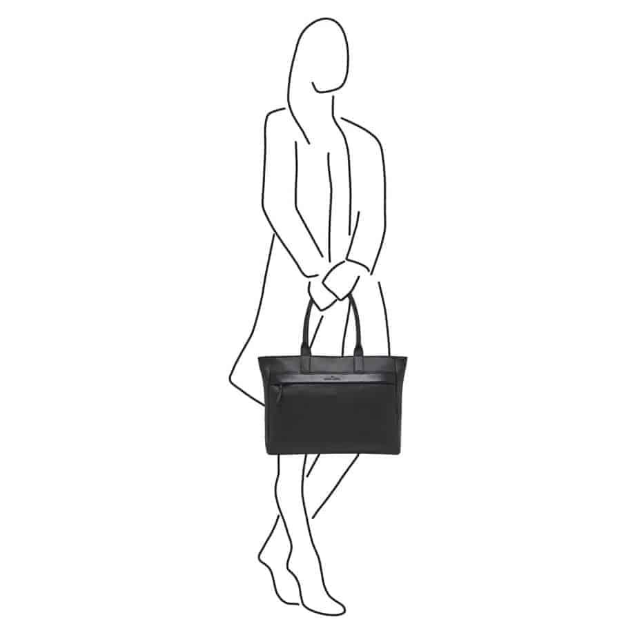 26 9561 ZW Anna Shopper Sort Ilustrasjon
