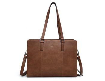 276625 ADAX Napoli working bag Brooke 14 tommer Cognac forside