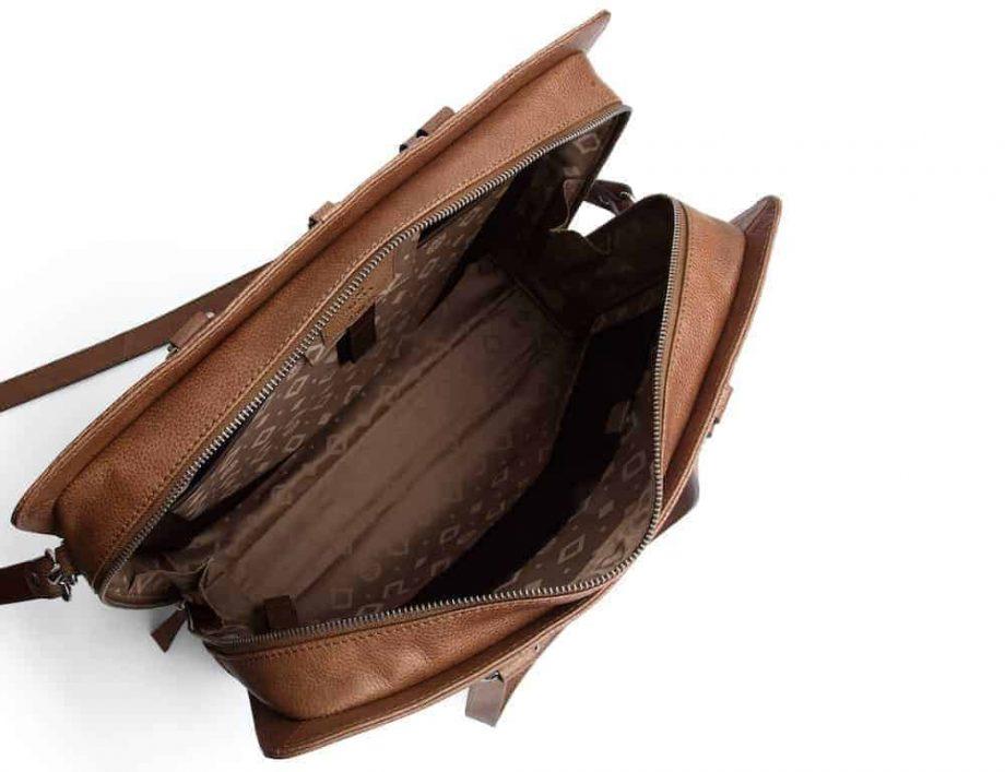 276625 ADAX Napoli working bag Brooke 14 tommer Cognac open