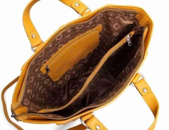 279392 ADAX Cormorano shopper veske Oda yellow gul aapen innside