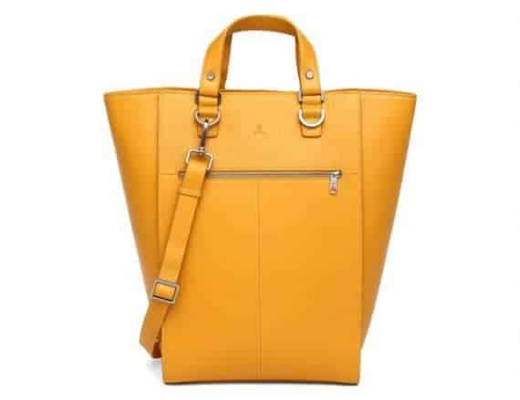 279392 ADAX Cormorano shopper veske Oda yellow gul forside front