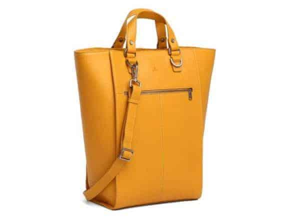 279392 ADAX Cormorano shopper veske Oda yellow gul fra siden