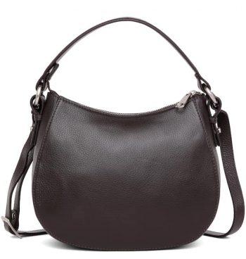 279692 ADAX Cormorano shoulder bag Mako_brun_front