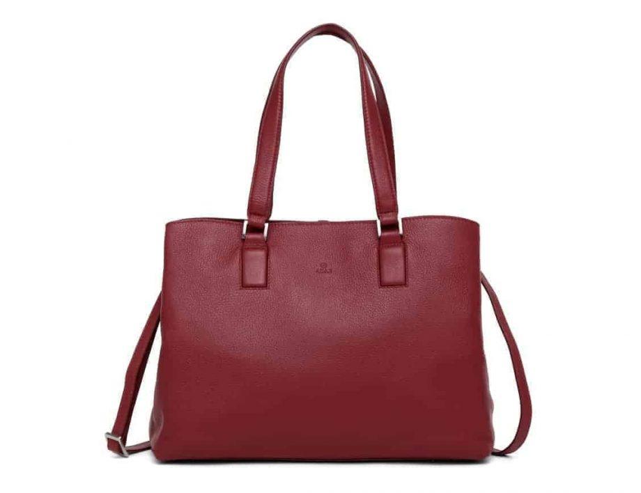 279892 ADAX Cormorano shopper veske Fanny scarlet front