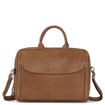 290625 ADAX Napoli working bag Raquel 14 Cognac Forside
