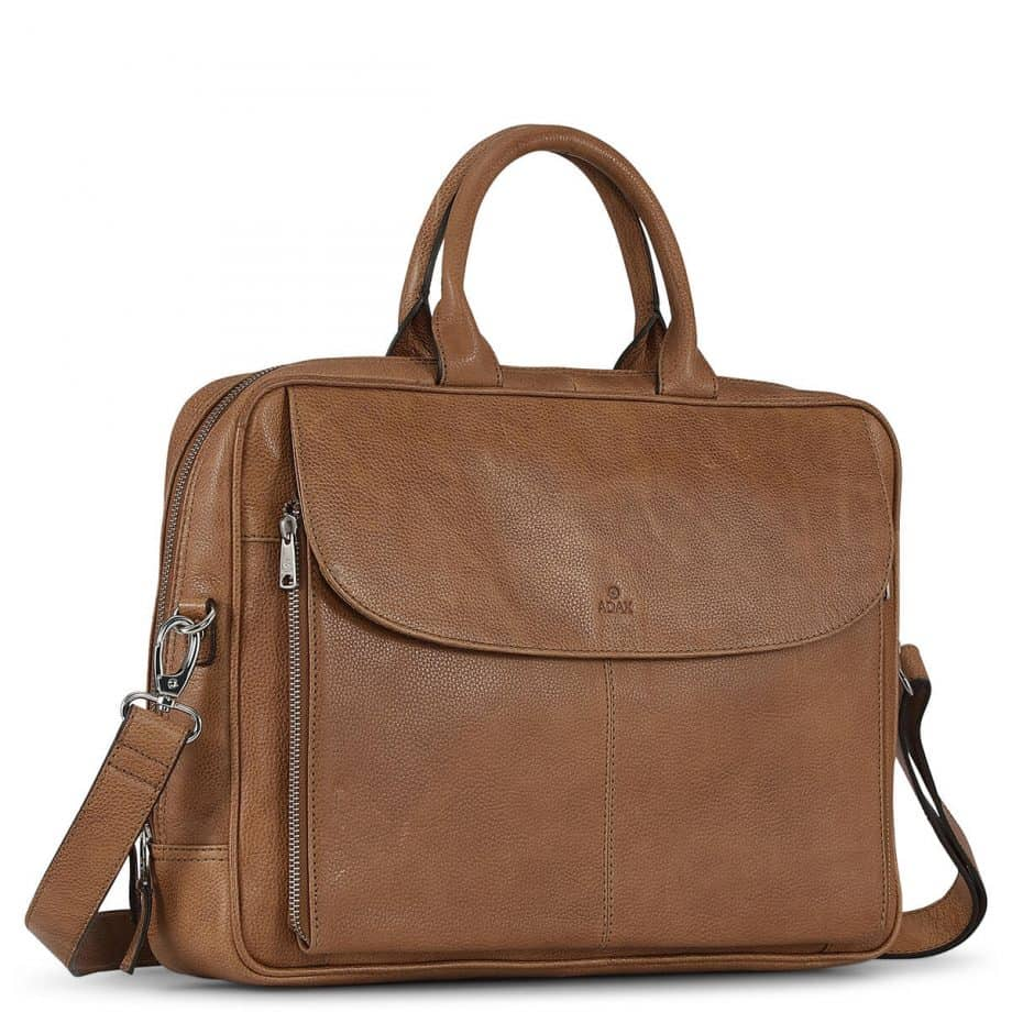 290625 ADAX Napoli working bag Raquel 14 Cognac Side