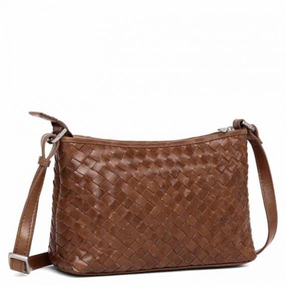 293799 ADAX Bacoli shoulder bag Smilla_brown_brun_skulderveske__side