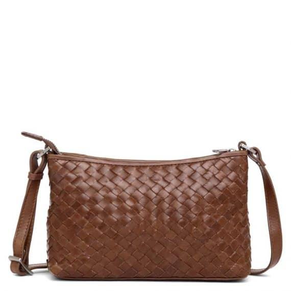 293799 ADAX Bacoli shoulder bag Smilla_brown_brun_skulderveske_foran