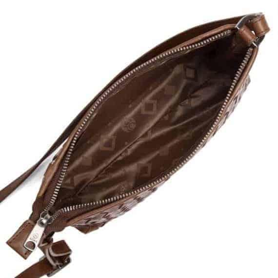 293799 ADAX Bacoli shoulder bag Smilla_brown_brun_skulderveske_open